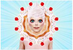 Sugar Queen (Cristina Burns) Tags: cristinaburns popsurrealism contemporaryart portrait photography photovogue digitalart photoshop surrealphotography foodphotography