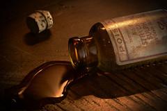 Careful! (johnsinclair8888) Tags: macromondays handlewithcare strychnine poison nikon dark bottle lowlight macro sigma 105mm closeup brown d750 art
