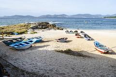 Barcas en la playa (Jose Manuel Barreiros Galia) Tags: galicia galifornia vigo playa mar agua compaia pontevedra domingo luz pesca barca gamela pescador viaje toralla canido desnudo nudista sol nubes