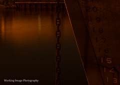 Battleship (Working Image Photography) Tags: battleship waterfront night baltimore anchor reflections