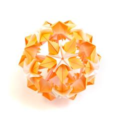 Happy birthday Mary! (_Ekaterina) Tags: origami kusudama unitorigami modularorigami ekaterinalukasheva paper paperfolding orange harmony flower