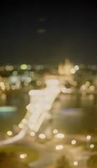 Chain Bridge Bokeh (greendarkroom) Tags: 2016 asa200 analog budapest film freunde fujifilmsuperia landscape market markt matze nikonfm2n scans sommer street travel ungarn urlaub bokeh longtime exposure tripod lights bridge donau great view hungary