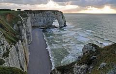 Menuda playa... (ceszij) Tags: france francia normandie normandia etretat scogliere falesie acantilado gabbiano seagull oceanoatlantico atlanticocean rock