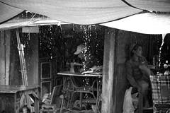 Inle Lake Street Market (virtualwayfarer) Tags: inlelake myanmar burma southeastasia asia shanstate shan market streetmarket outdoormarket street dailylife streetphotography canon6d canon village villagelife indietravel budgettravel indietraveler budget heavyrain rain raining sewing repair shop shopping selling stand nyaungshwetownship nyaungshwe