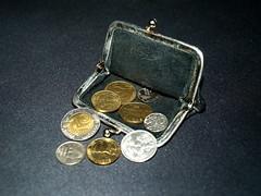 Finnish markka coins in wallet (Santeri Viinamaki) Tags: suomenmarkka markka coins coin kolikko lompakko kukkaro mark fim wallet money