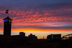 IMG_2574 (Derek Abraham) Tags: pink sunset urban orange clouds portland cityscape portlandor unionstation