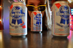 Cam Milwaukee Pabst (K. McMahon) Tags: portrait beer girl sunglasses pub downtown perspective milwaukee pbr pabst pabstblueribbon swingindoor