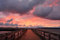 Peace Amid the Storm (Ireena Eleonora Worthy) Tags: canada beach nature beautiful clouds sunrise landscape pier bc britishcolumbia awesome sid vancouverisland top10 sidney nikond700 northernstraitsphotography