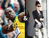 Usain Bolt and Cheryl Cole. She's cute and she likes her men sporty.