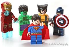 Day6 (Canon Mad) Tags: lego ironman superman hero hulk heros