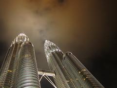 Petronas Towers (jleathers) Tags: building skyline night skyscraper lights petronas towers malaysia kualalumpur gotham kl klcc petronastowers