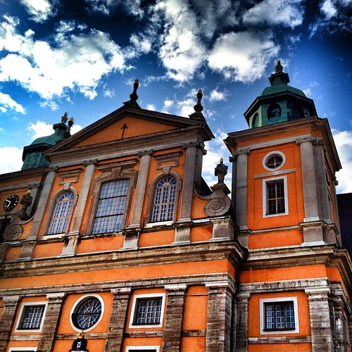Kalmar Cathedral (Swedish: Kalmar domkyrka) is in the city of Kalmar in Småland in south east Sweden, situated by the Baltic Sea.  The new city of Kalmar built on Kvarnholmen around the mid-1700s. The transfer from the old town was largely completed 1658t