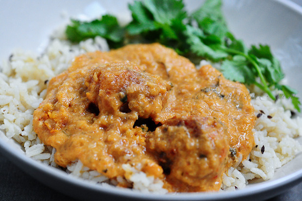 Jeera Rice with Malai Kofta