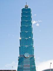 Big blue tower (Marc Rauw.) Tags: city blue sky urban building tower skyline architecture skyscraper geotagged lumix taiwan landmark olympus structure lookingup panasonic 101 taipei tall pancake 20mm taipei101 olympuspen taipeh ascending m43 epl1 microfourthirds panasoniclumix20mmf17 geo:lat=25033630604832492 geo:lon=12156513993121337