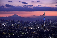 日没直後 東京スカイツリー