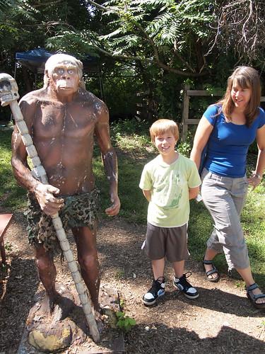 Caveman at The Rock, Fossil, and Dinosaur Shop