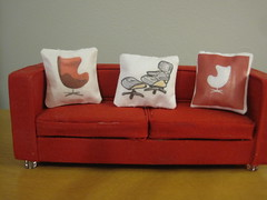 New Modern Pillows (Mad for Mod) Tags: lighting modern miniature mod retro tiny dollhouse