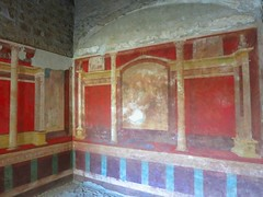 The house of Emperor Augustus on the Palantine It