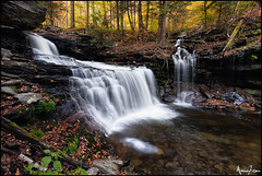 Rickett's Glen Again! (Marvin Foran Photography) Tags: fallleaves waterfall fallcolor pennsylvania falls waterfalls rickettsglen canon1740l rickettsglenstatepark pennsylvaniastateparks canon5dmkii marvinforanphotography