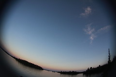 (Maicdlphin) Tags: sunset lake landscape fisheye lakeofthewoods lotw lakescape