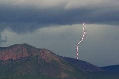 Lightning Bolt Hits Little Elden (ArneKaiser) Tags: arizona storm clouds flagstaff monsoon lightning mountelden eyefi patchmaster