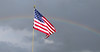 Flag and Rainbow (N2Pix) Tags: blue red white nature photoshop outdoors rainbow bright flag patriotic