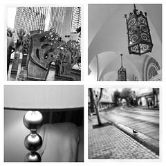 Life in the city (Pamela Walencewicz) Tags: street city sculpture bird downtown honolulu lamps kingst hotelst