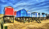 Beach Huts (Adrian@Through-the-lens) Tags: blue sky beach landscape photography colours huts hdr