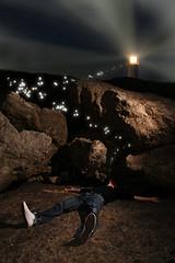 37.52 > A series of unfortunate events II: Soultaker (Dz) Tags: longexposure 2 lighthouse rock night photoshop nikon sb600 soul thief steal rearcurtain aseriesofunfortunateevents 52weeks d80 strobist