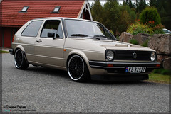 VW Golf 2 CL 1984 (b3ntsen) Tags: black slr norway vw golf volkswagen norge nikon low 1984 rims cl stance golf2 nikond80 golfcl nicerims demobil stanceworks e30rims lowisalifestyle vwgolf2cl1984 utstillingsbil volkswagengolf2cl
