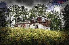Broken Home (Kevin Vyse Photography) Tags: old house ontario canada fall home broken landscape sunny foliage abandon rough left woodstock hdr 2012 apart kvphotography kevinvyse