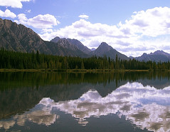 Lake (Fiona Mason Photography) Tags: sky mountain lake canada clouds roadtrip alberta