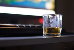 Late night Scotch (NILPhotography:) Tags: glass 50mm nikon whisky scotch jackdaniles nilphotography nathanlucking