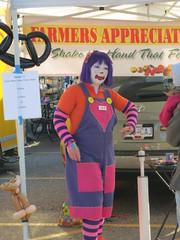 She's a Clown (jamica1) Tags: canada bc farmers market okanagan clown columbia sugar british kelowna sugartheclown