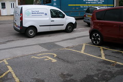 P9100008-Putting the Boots in? (Michael_Witherden) Tags: boots parking disabled bays curb dropped blocking chemist