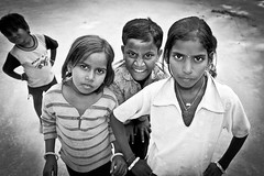 Tough cookies (PhotoA.nl) Tags: india children four blackwhite young explore tough direct sonagiri