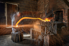 Designs on Metal - Location for Flaming June Photoshoot (Andrew Stawarz) Tags: longexposure metal hammer suffolk nikon photoshoot working forge sparks anvil flamingjune d800 stowlangtoft 2470mmf28gedafsnikkor designsonmetal nigelkaines