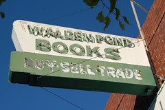 Faded half (Nurse Kitty Qat) Tags: sign vintage oakland neon bookstore waldenpondbooks