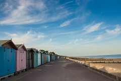 Whisp and the Huts (_Harvs) Tags: sea cloud beach seaside sand side front huts beachhut seafront groyne beachhuts whisp whispy