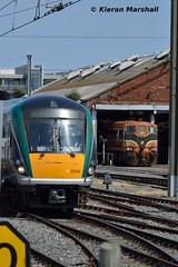 22030 and 175 at Connolly, 19/7/16 (hurricanemk1c) Tags: dublin irish train rail railway trains railways irishrail rok rotem 2016 22030 icr connolly iarnrd 22000 ireann iarnrdireann 4pce
