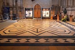 028 Narthex Mosaic Floor Looking N (paulscott.info) Tags: england tour photographs adelaide slideshow southaustralia cambridgeshire anglican elycathedral churchofengland paulscott