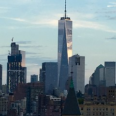 Freedom Tower from Greenwich Village -NYC (verplanck) Tags: skyline freedomtower greenwichvillage nyc architecture twilight