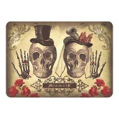 (Gothic Skull Couple Day of The Dead Wedding Invite) #Aged, #DayTheDeadWedding, #DeadWedding, #Goth, #GothicWedding, #Old, #Rustic, #Skull, #SkullCoupleWedding, #Skulls, #Victorian, #Vintage is available on Custom Unique Wedding Invitations store http://i (CustomWeddingInvitations) Tags: gothic skull couple day the dead wedding invite aged daythedeadwedding deadwedding goth gothicwedding old rustic skullcouplewedding skulls victorian vintage is available custom unique invitations store httpcustomweddinginvitationsringscakegownsanniversaryreceptionflowersgiftdressesshoesclothingaccessoriesinvitationsbinauralbeatsbrainwaveentrainmentcomgothicskullcoupledayofthedeadweddinginvite weddinginvitation weddinginvitations