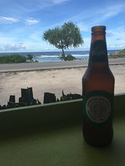 A cold one at Anibare Bay!