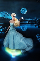 Princess Odette (ArLekin26113) Tags: eden neverordinary fashionroyalty nuface integrity princessodette swan swanlake lake swanprincess moon night water blondehair feather fairytale