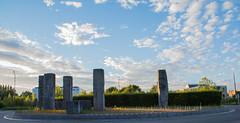 Monoliths at sunset. (Azariel01) Tags: 2016 bruxelles brussels belgique belgie belgium ville clouds rondpoint roundabout stalle monolithes monoliths