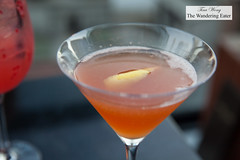 Archer Elixir - Bombay Sapphire East Gin, Earl Grey, Campari, lemon, St. Germain (thewanderingeater) Tags: spyglassrooftopbar rooftopbar manhattan nyc midtownwest cocktails barfood archerhotel