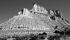 American Gothic BW (SCFiasco) Tags: grandescalante nps nationalparkservice escalante rock promontory formation peak butte scfiasco siasoco edsiasoco