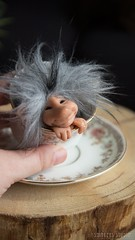 Troll Teacup (Shirleys Studio | Handmade Art Dolls) Tags: shirleysstudio shirleys studio beeldende kunst art artist grotto troll ooak dolls trollen trolletjes boswezens fantasy doll artdoll trol trolls figurine handmade