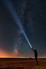 """Va lctea """"X-man"""". Milky way. (Carlos Garca-Donas Fernndez) Tags: valctea milkyway stars estrellas linterna flashlight"""